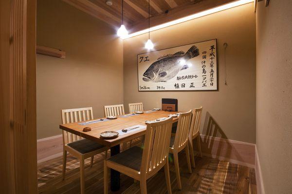 個室テーブル席 ✕ 2部屋